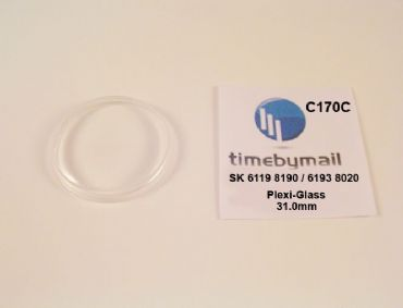 Watch Crystal For SEIKO 5 6119 8190 / 6193 8020 Automatic Plexi-Glass Part C170C